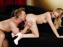 Young blonde beauty fucked near her perfect left-hand cunt