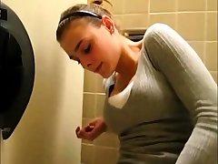 French teen masturbing wc public