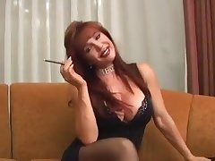 Very Hot Housewife Vanessa Smoking Before Dealings