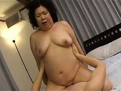 Hardcore Granny hardcore banged away from younger brat