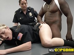 Crime suspect gets sexually interrogated