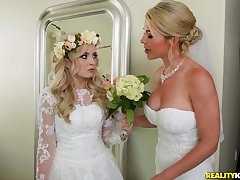 A wedding day turns to a blowjob and indestructible have sexual intercourse for piping hot Lexi Lore