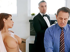 Horny butler is reachable to anal fuck housewife