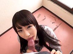 Cute Japanese chick Ayami Shunka in miniskirt gets fucked good