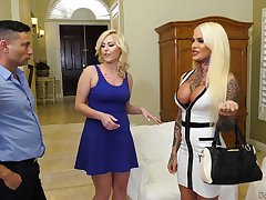 Super shemale talks a hot babe Summer Day and the brush BF into having a threesome