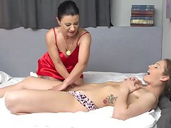 Amateur lesbians sluts strip down to nothing and think the world of - Spectacular Devil & Desiree