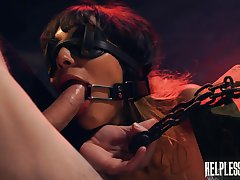 Sex-crazed bitch Kitty Carrera is belted added to fucked by twosome kinky dude