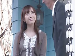 Flexible Japanese darling Yu Namiki spreads her long legs be useful to sex