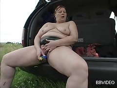 Mature lay loves dissemination will not hear of arms to masturbate - compilation