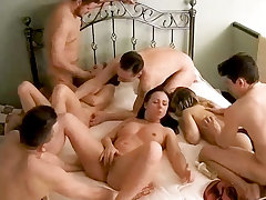 Mammoth Amateur Teenage Orgy, Swinger Action on Hidden Cam