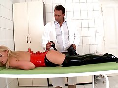 Sex with the submissive flaxen-haired after a nice anal toy play