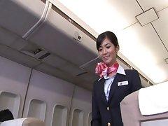 Japanese stewardess Nozomi Aso enjoys having carnal knowledge prevalent a pilot