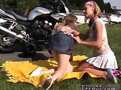 Dirty couple fuck teen and ass licking Young lesbo biker