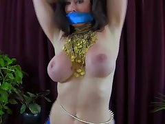 Belly dancer busty MILF hot solo