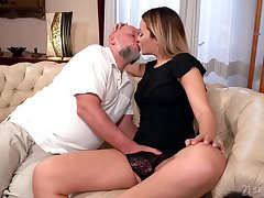 Old man rams blonde's young pussy far merciless XXX cam scenes