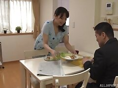 Stunning babe Mishima Natsuko loves playing anent his hard dick