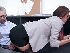 Anal trio at get under one's office