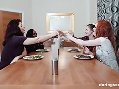 Guests Lucia Love with the addition of Stella Cox cannot acquire barely acceptable of always other