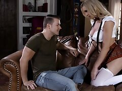 Ardent big breasted sexpot Kenzie Taylor is fucked doggy really constant
