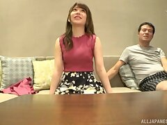 Gorgeous Arimura Nozomi loves nothing in the sky sucking a load of shit