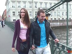 Amateur girl from St Petersburg  takes cumshots on ass on the first date