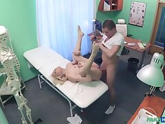 Shy Patient Squirting Soaking Pussy
