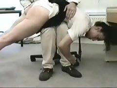 white cotton panties wedgie spanking