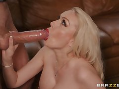 inviting guy destroys Amber Jayne's pussy with his monster penis