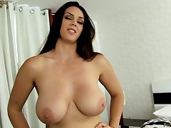 Sensual dark-haired with fat funbags, Alison Tyler luvs to deep-throat meatpipe coupled with taste some new jizm