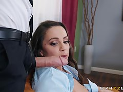 Abigail Mac blows every grovel of stranger's hard dick before fuck